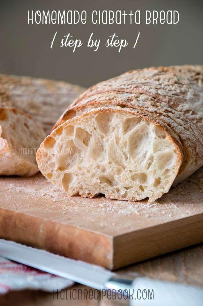 Homemade Ciabatta Bread {Step by Step}