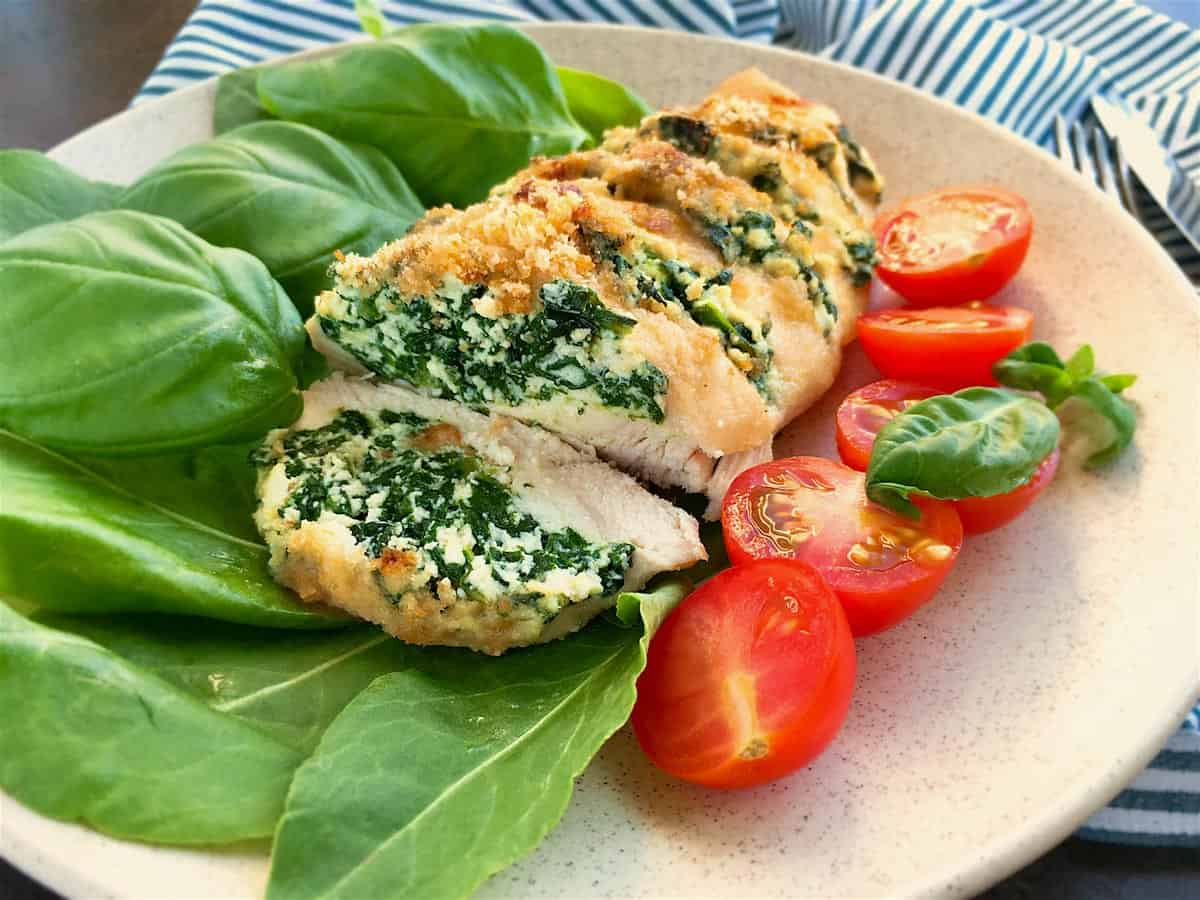 Photo of Juicy Hasselback Chicken – Stuffed with Spinach & Ricotta Cheese
