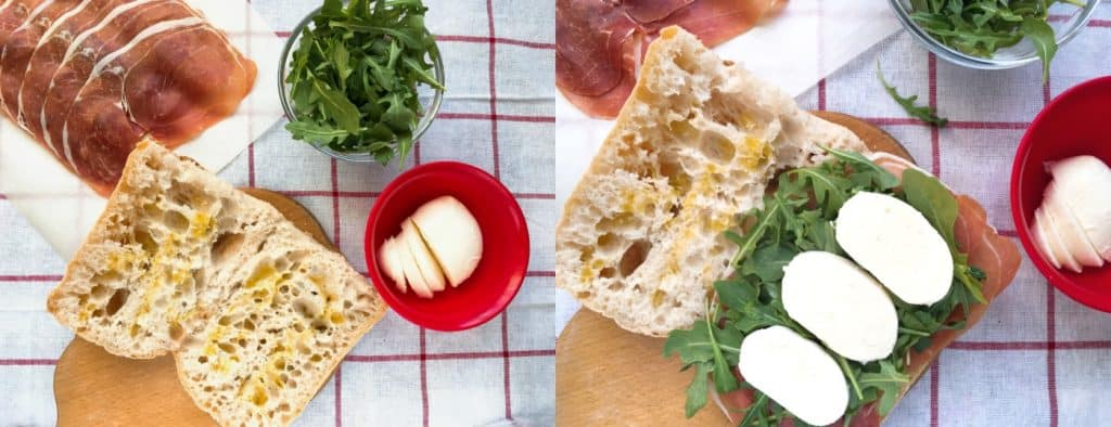 How to make Italian Prosciutto & Arugula Panini