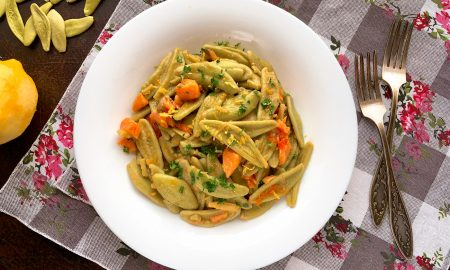Foglie d'ulivo - Olive Leaves Pasta with Zesty Lemon Infused Salmon