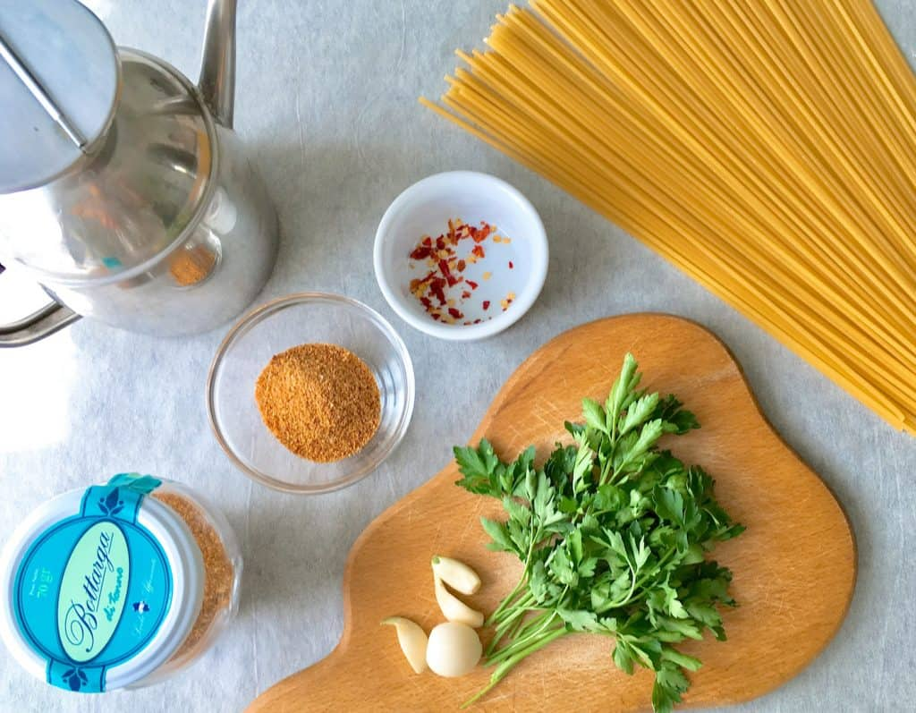 Spaghetti alla Bottarga - Ingredients