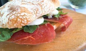 Italian Cured Ham & Arugula Panini
