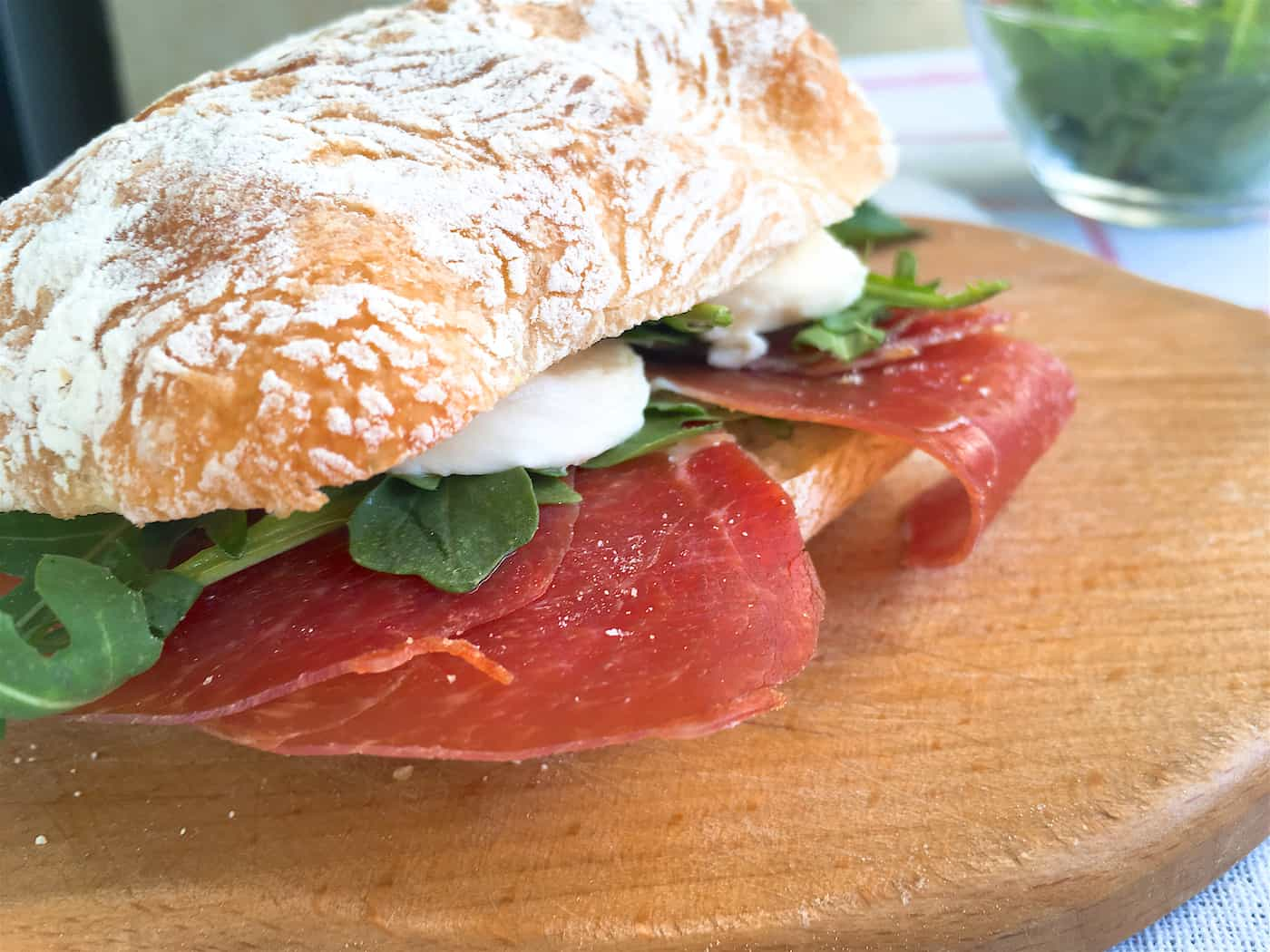 Photo of Prosciutto Ham, Mozzarella & Arugula Panini Sandwich