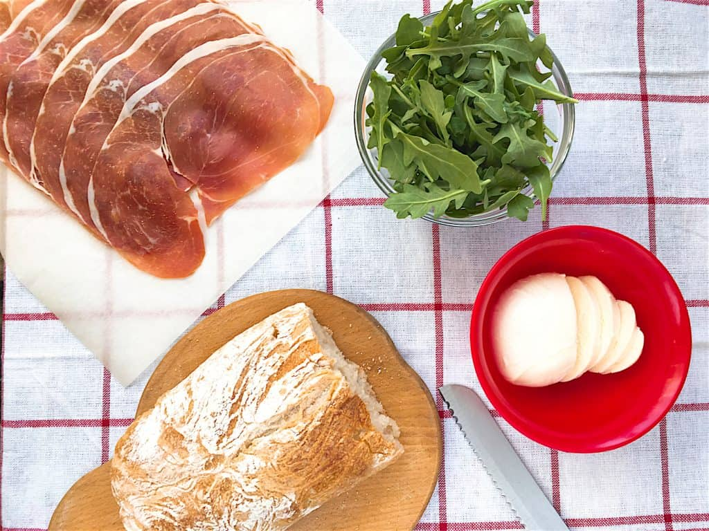 Prosciutto & Aurugla Panini - Ingredients