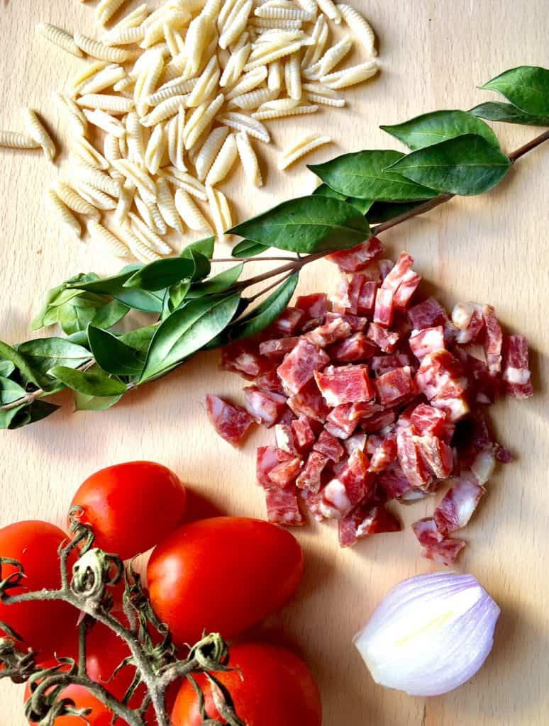 Sardinian Gnocchetti Malloreddus - Ingredients