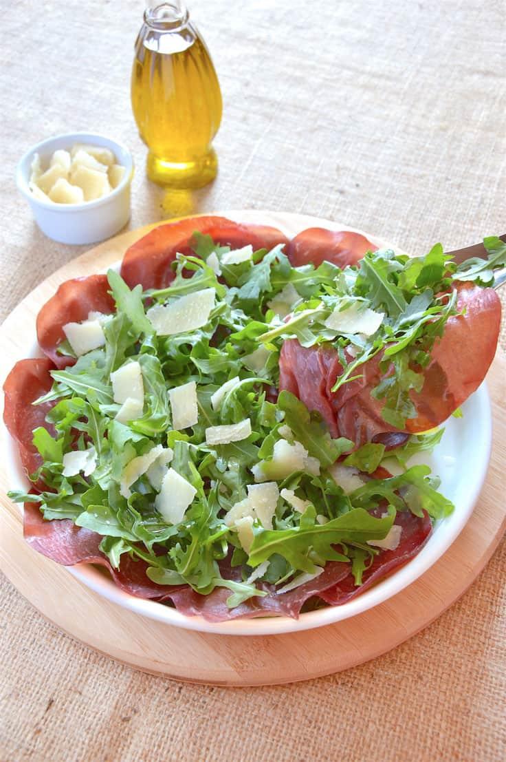 Delicious Lean Bresaola & Arugula Salad
