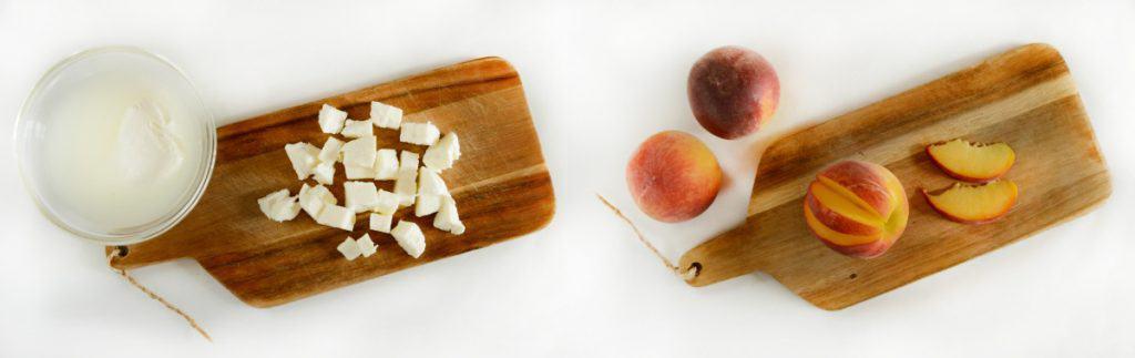 Bruschetta with Mozzarella, Prosciutto & Grilled Peaches - Step1