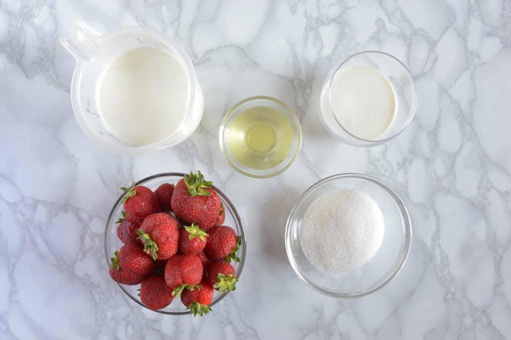Strawberry Gelato Ingredients