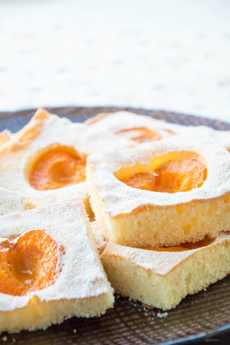 Melt-in-the-mouth- Fluffy FRESH Apricot Squares