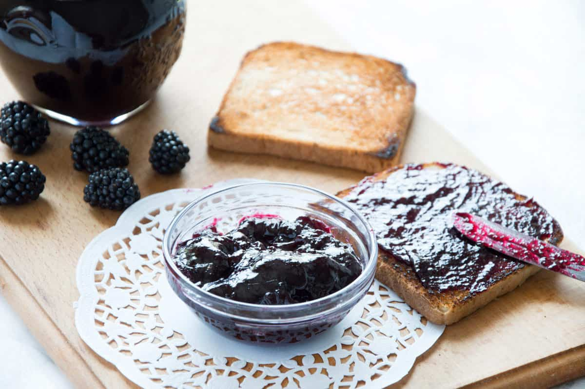 Homemade Blackberry Preserves