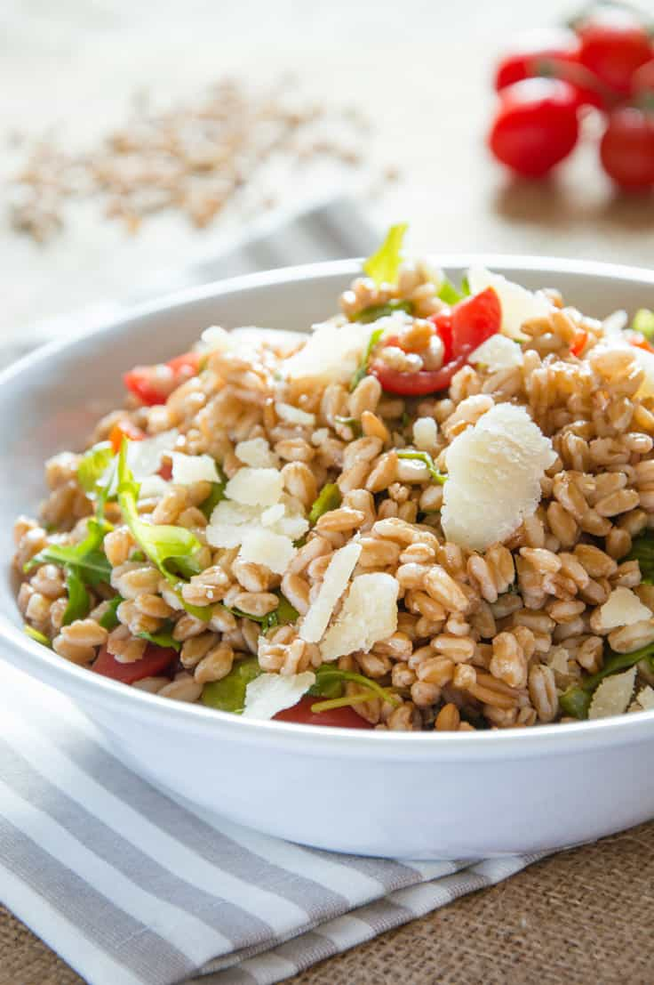 Farro Salad with Arugula and Cherry Tomatoes