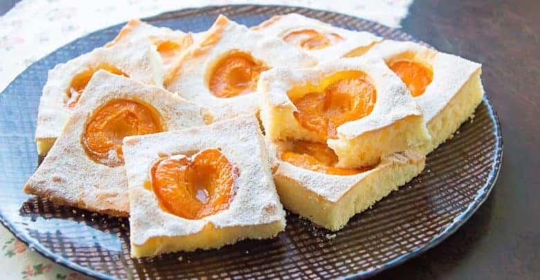 Fresh Apricot Squares Pie