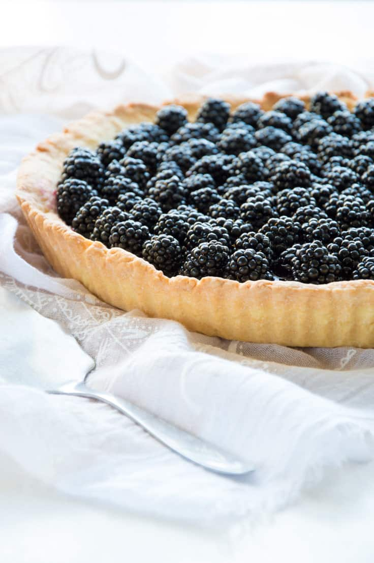 Fresh Blackberry Crostata Pie