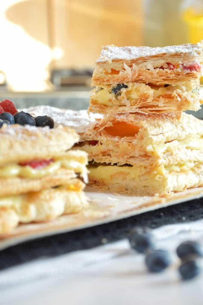Italian Millefoglie Cream Cake