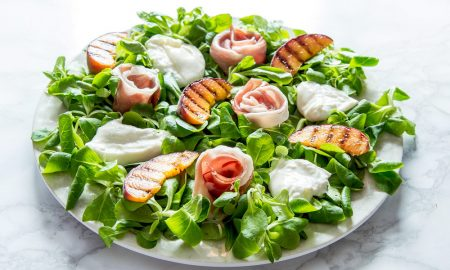 Prosciutto, Grilled Peach & Burrata Salad - Recipe