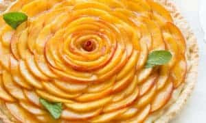 Fresh Peach Crostata with Vanilla Custaard