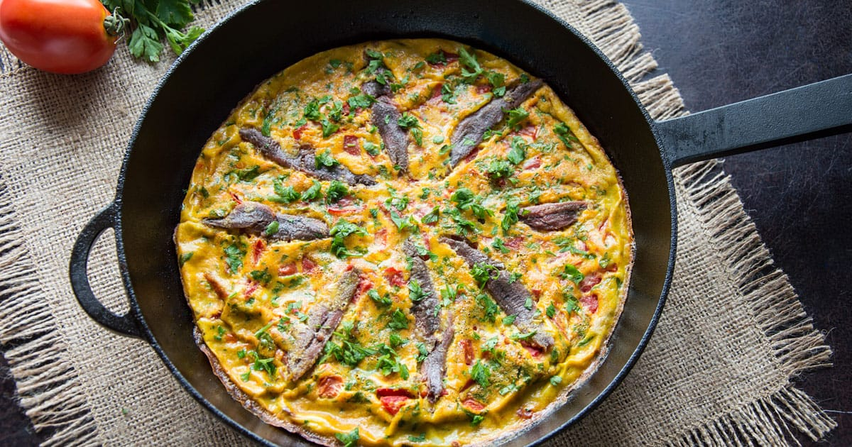 Photo of Baked Anchovy Frittata with Tomatoes
