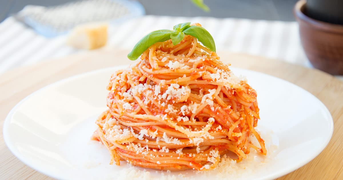 Photo of Capellini {Angel Hair} Al Pomodoro