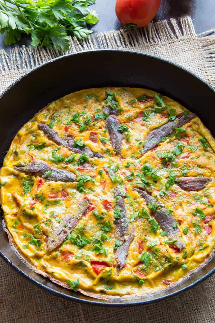 Baked Anchovy Frittata