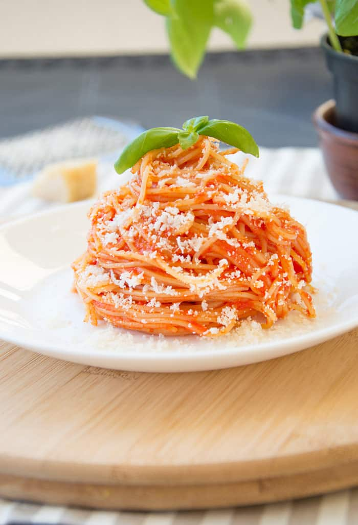 Capellini {Angel Hair} Pasta Al Pomodoro