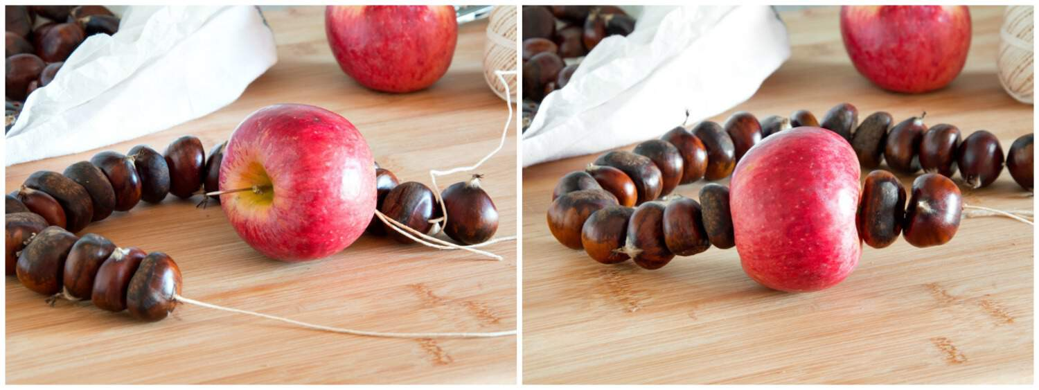 "How to Make Italian ""Halloween"" Chestnut Necklace - Step 2"