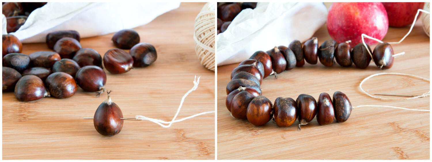 "How to Make Italian ""Halloween"" Chestnut Necklace - Step 1"