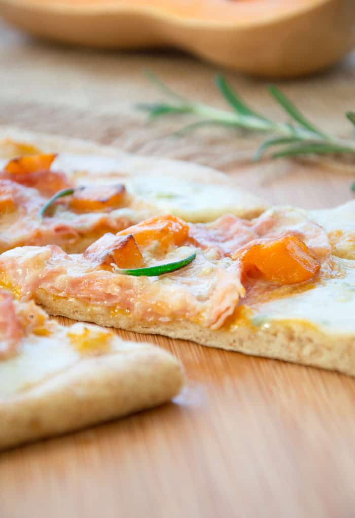 Whole Wheat Pizza with Pumpkin and Blue Cheese