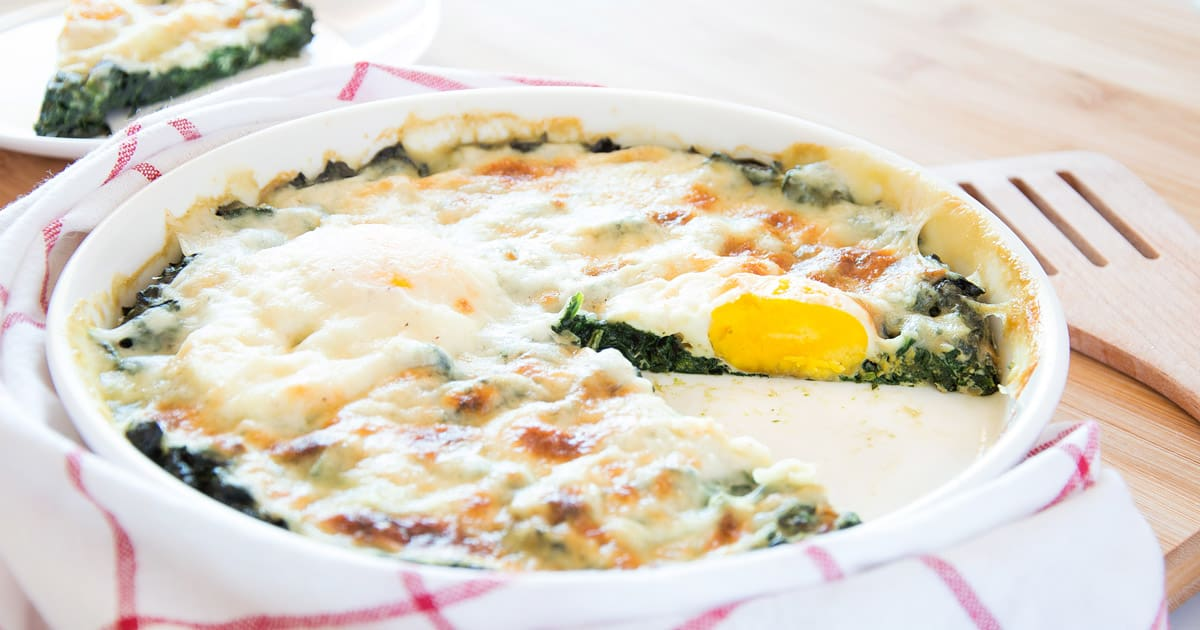 Baked Spinach Florentine Style