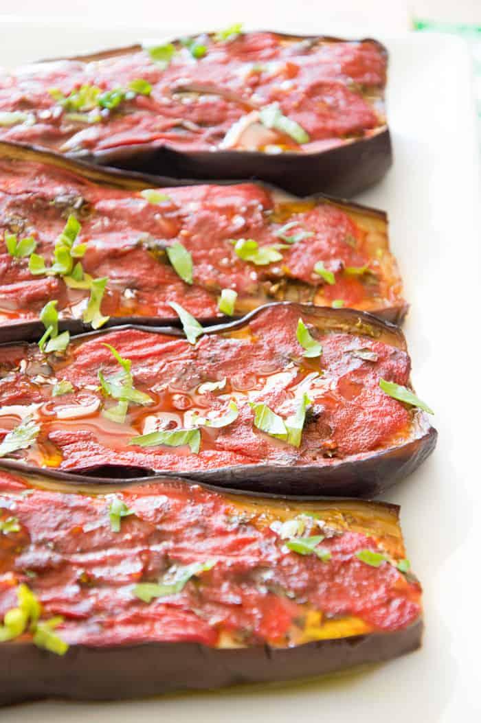 Oven Roasted Eggplants Alla Sarda