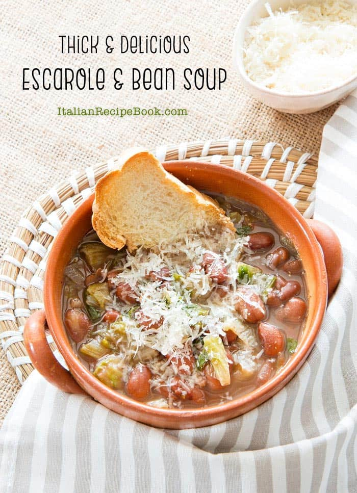 Thick Escarole & Bean Soup {Recipe}
