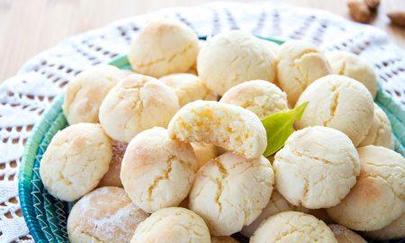 Soft Lemon Crinkle Cookies