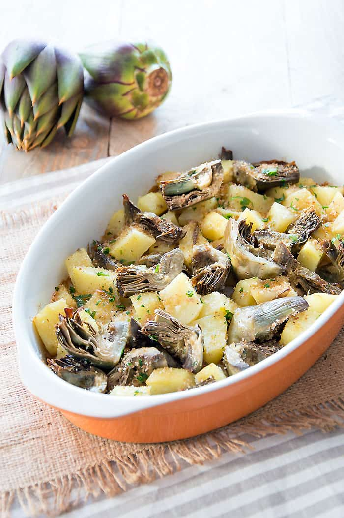 Artichokes & Potato Casserole {Recipe}