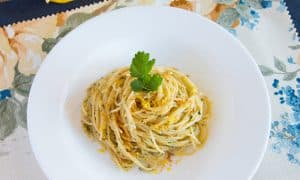 Lemon Capellini with Bottarga Sauce {ONLY 10 MIN, SUPER YUM}
