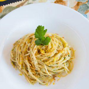 Lemon Capellini with Bottarga Sauce {ONLY 10 MIN, SUPER YUM}