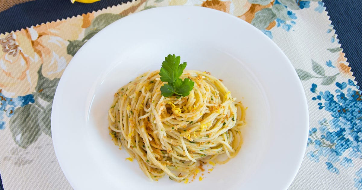 Photo of Lemon Capellini with Bottarga Sauce