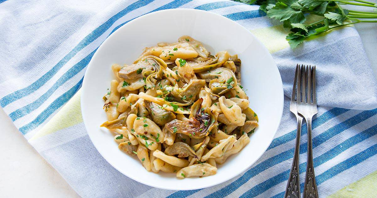 Photo of Cavatelli Pasta with Artichokes