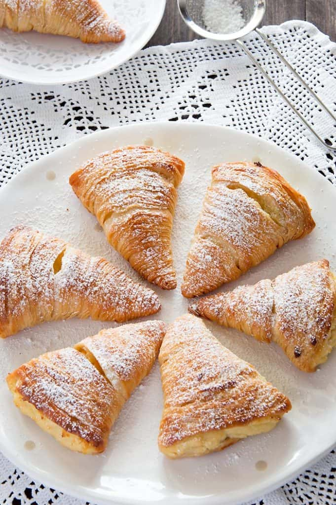 Sfogliatelle Pastries on a plate