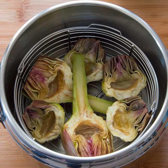 Pressure Cooker Artichokes