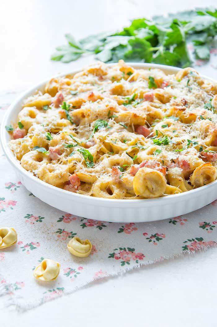 Tortellini Al Forno {Oven Baked Tortellini Recipe}