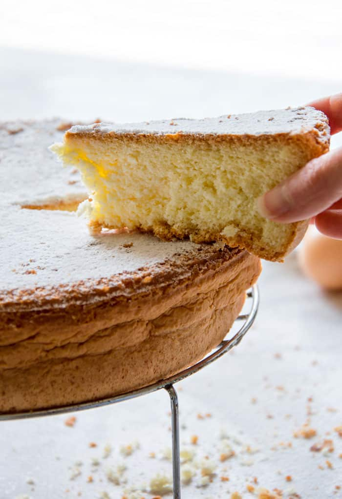 The BEST Sponge Cake Recipe {No baking powder, no butter}