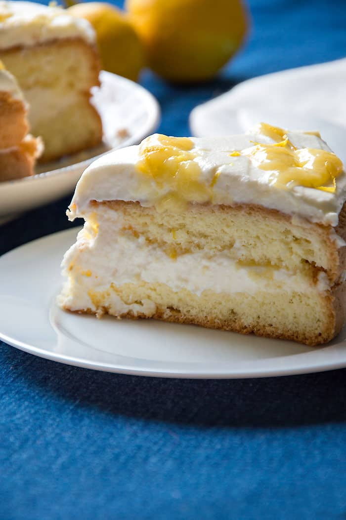 Lemon Layer Cake with Mascarpone & Lemon Curd {Yum-Yum!!}