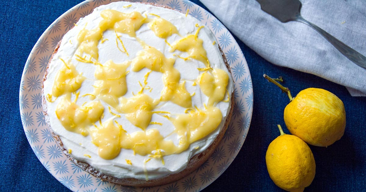 Photo of Lemon Layer Cake with Mascarpone and Lemon Curd