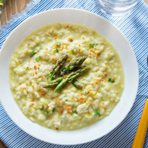 Risotto with Cream of Asparagus {Super delicate and creamy!!}