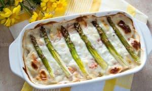 Creamy Asparagus Casserole w/ Salmon & Potatoes
