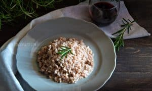 Red Wine Risotto w/ Italian Sausage & Rosemary