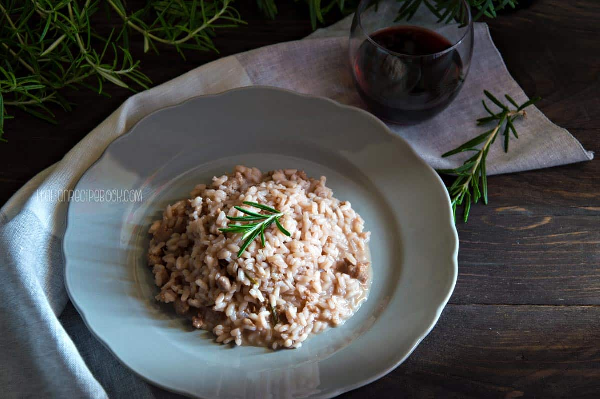 Photo of Red Wine Risotto With Italian Sausage & Rosemary