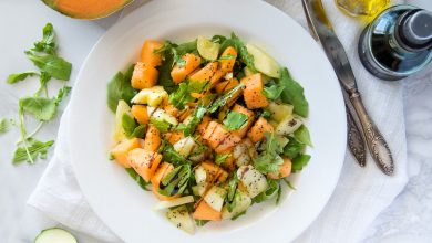 Summer Melon & Cucumber Salad {Juicy, Crunchy, Refreshing!})