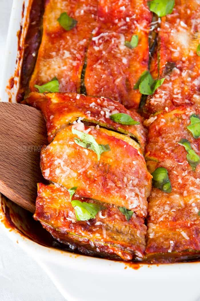 Skinny Vegetable Lasagna w/ Tomato And Basil Pesto Sauce