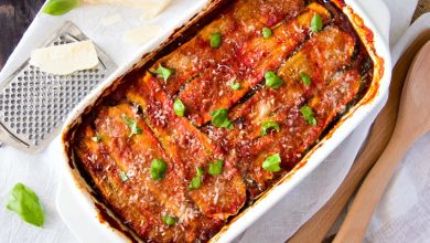 Photo of Skinny Vegetable Lasagna with Tomato And Basil Pesto Sauce