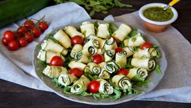 Photo of Easy Zucchini Rolls with Ricotta & Pesto Sauce